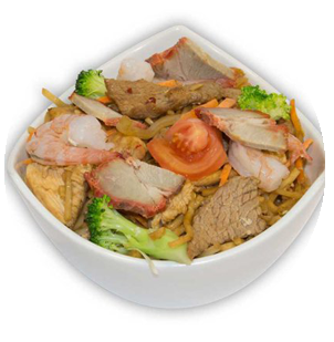 stir fried rice and noodles